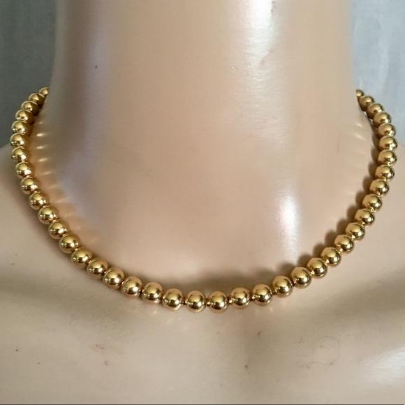 Monet Jewelry Vintage Gold Beaded Necklace Poshmark